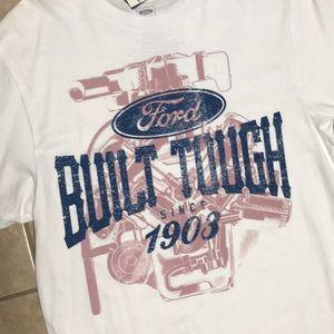 Shirts - Ford Men White 1903 Built Tough Shirt Large